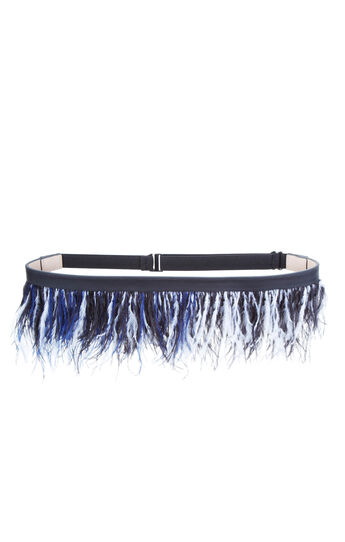 Layered Feather Waist Belt