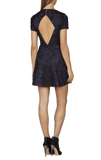 Marissa Short-Sleeve Flounce Dress
