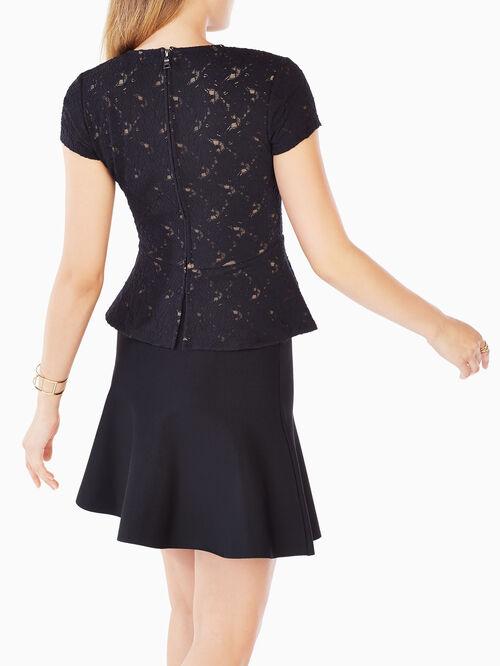Taj Asymmetric Lace Top