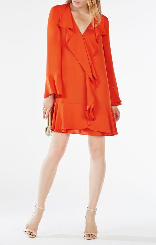 Debra Ruffled-Trim Dress
