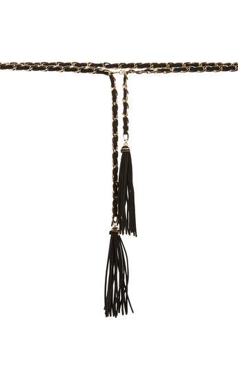 Braided Faux-Suede Waist Belt