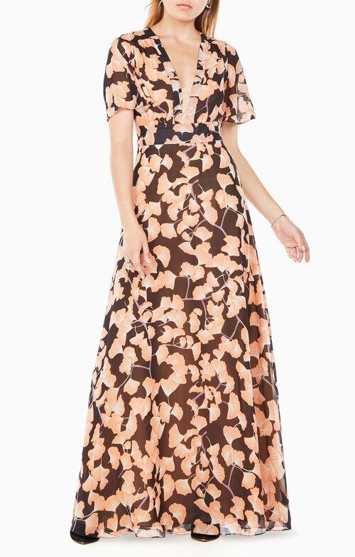 Anaelle Floral-Print Silk Dress