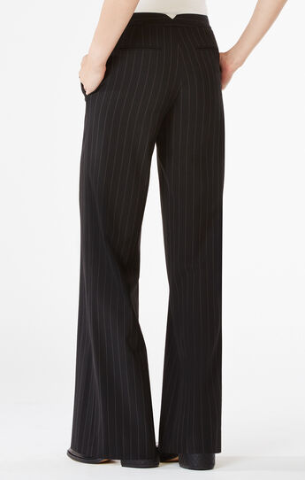 Daniel Pinstriped Wide-Leg Pant