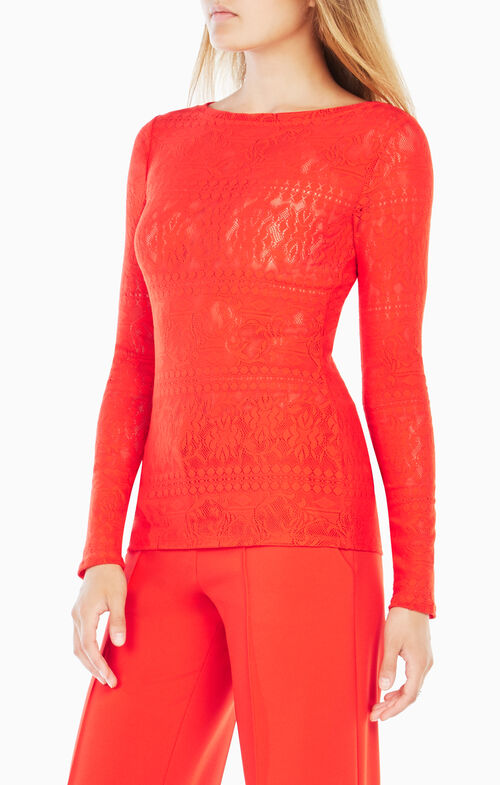 Wylie Long-Sleeve Lace Top