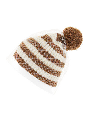 Striped Veil Beanie