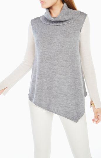 Waris Color-Blocked Turtleneck Sweater