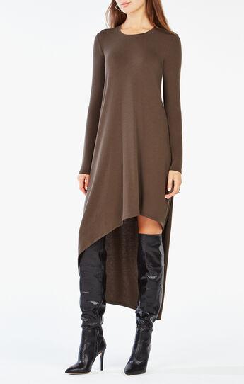 Miney High-Low Jersey Dress