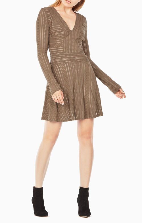 Kinley Striped Mesh Dress