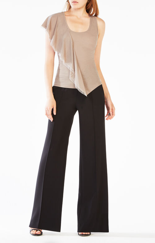 Addisen Asymmetrical Ruffle Top