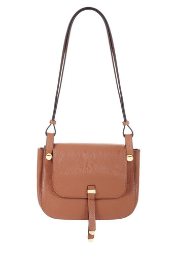 Keely Small Leather Saddle Cross-Body