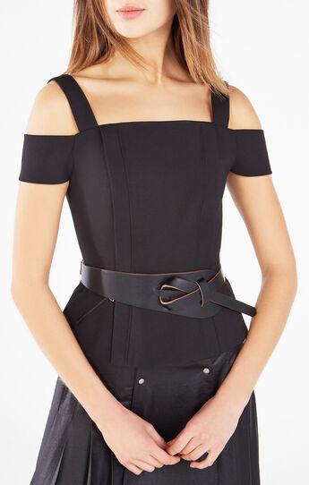 Looped Faux Leather Waist Belt