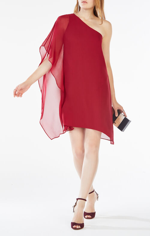 Alana One-Shoulder Silk Dress