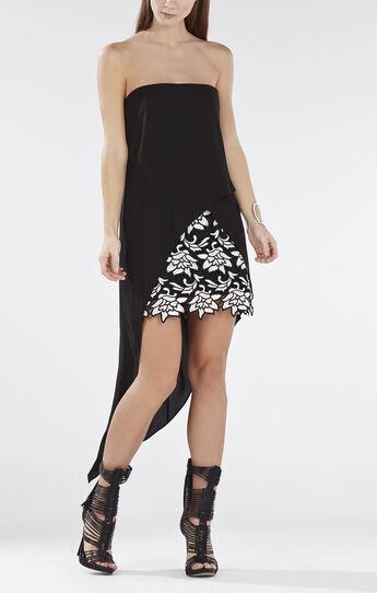 Krystin Strapless Asymmetrical-Hem Dress
