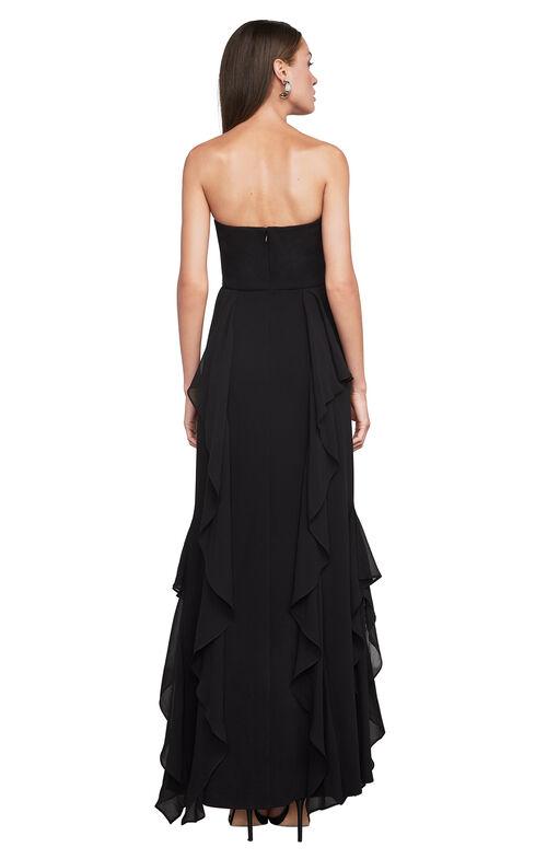 Bari Strapless Ruffle Gown
