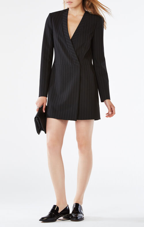 Waleska Pinstriped Jacket Dress