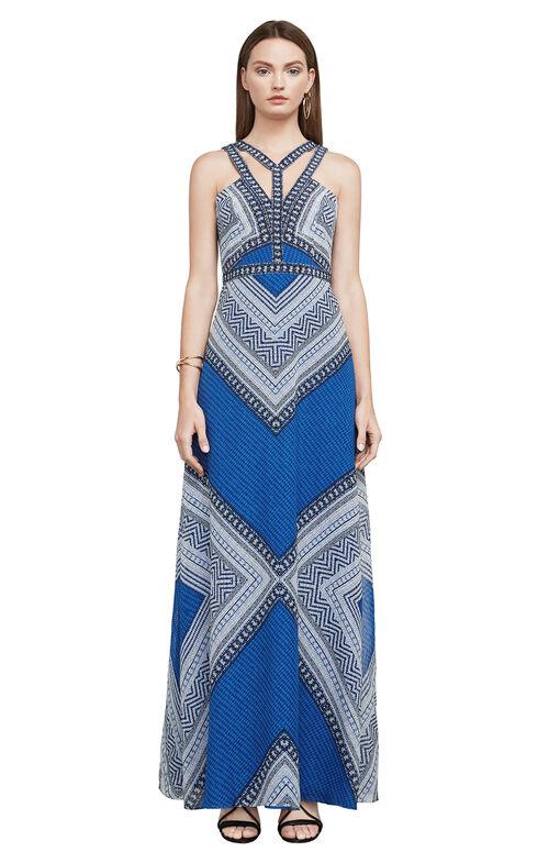 Stella Mosaic-Print Maxi Dress