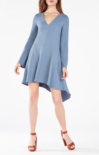 Robyn Long-Sleeve Asymmetrical Dress