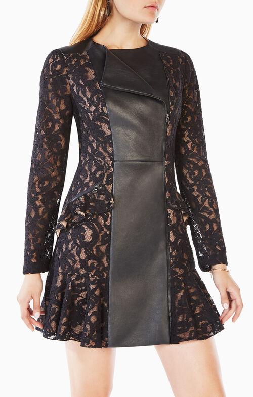 Briony Scroll Lace Dress