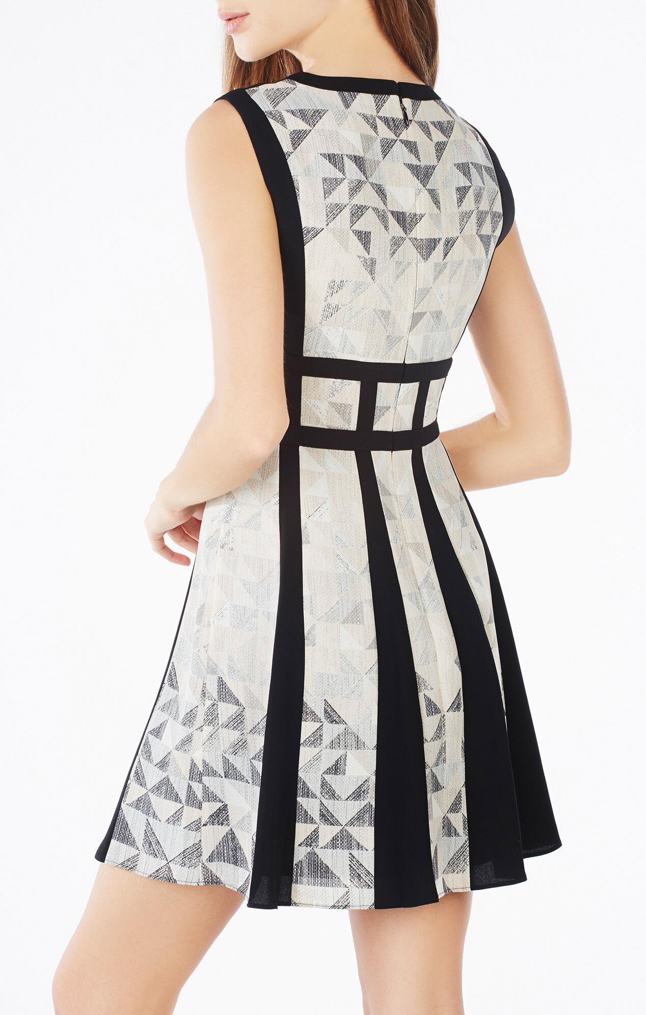 Val Triangle Print-Blocked Dress