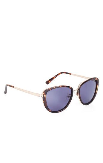 Retro Modified Round Plastic Sunglasses