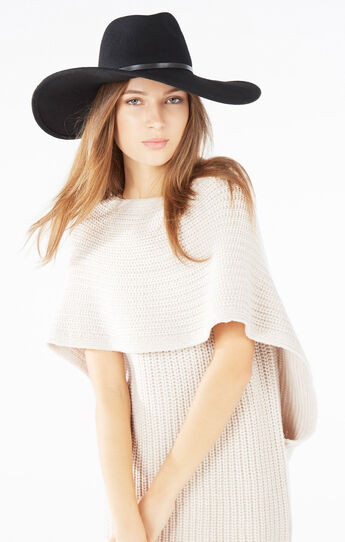 Banded Wool Floppy Hat