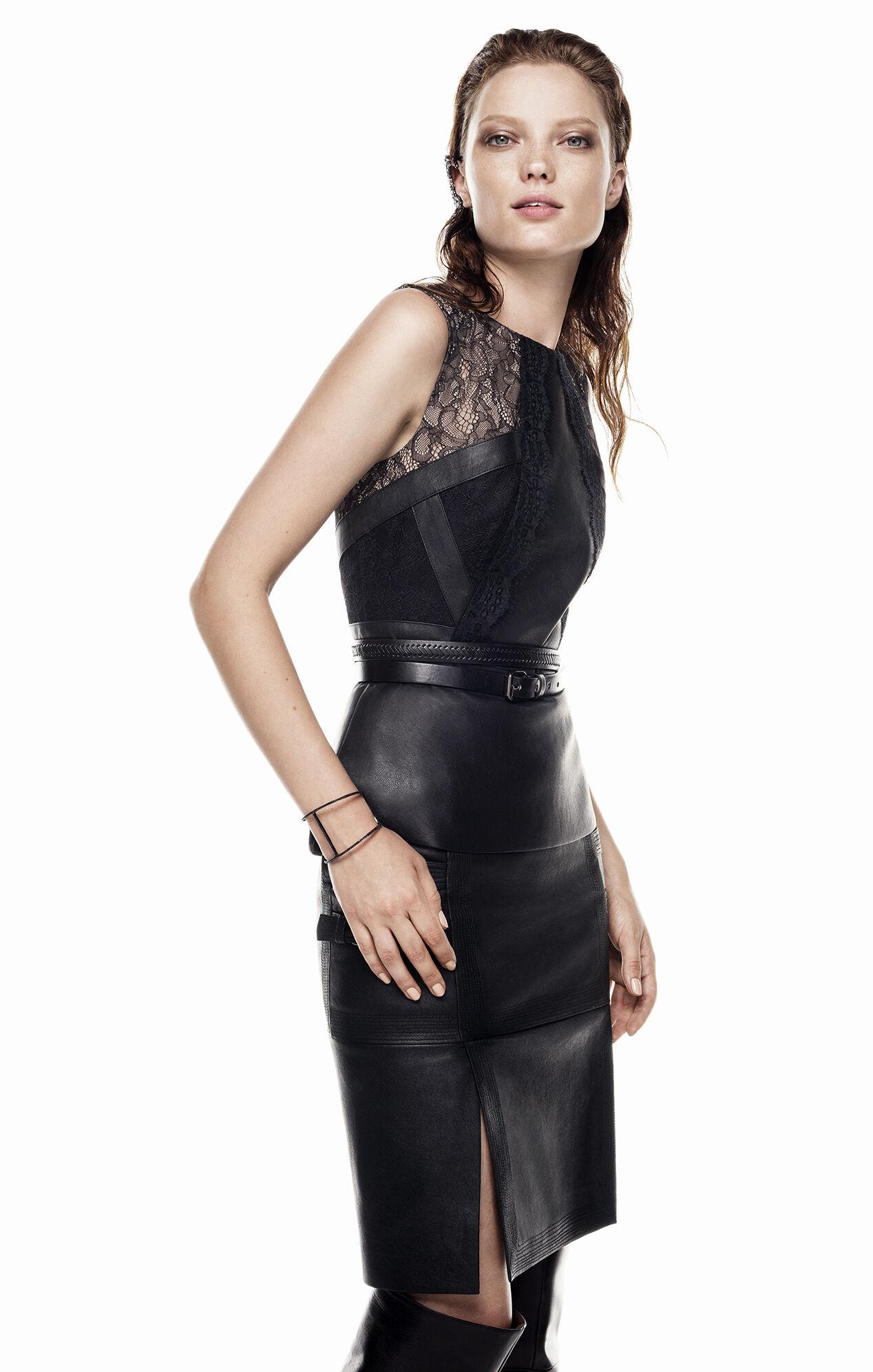 Leather Skirt Dress Ala