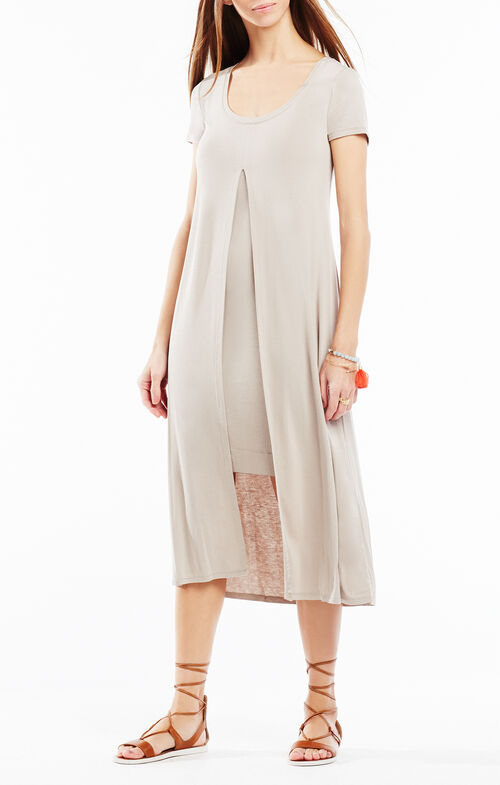 Audreigh Layered Midi Dress