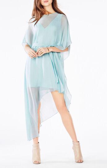 Suzy Draped Asymmetrical Silk Dress