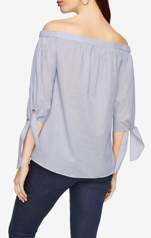 Tamsin Striped Off-The-Shoulder Top