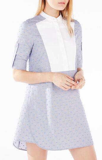 Michala Dotted Bib Shirt Dress