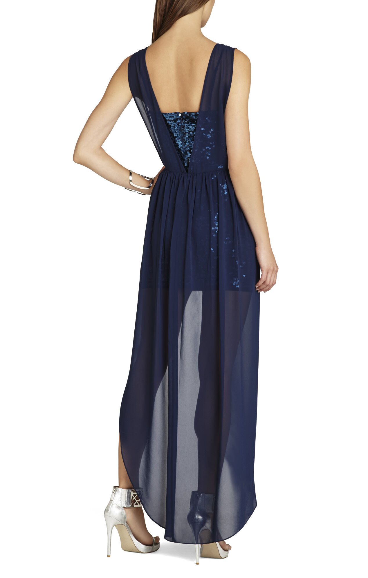 Katrine Sequins Chiffon Dress