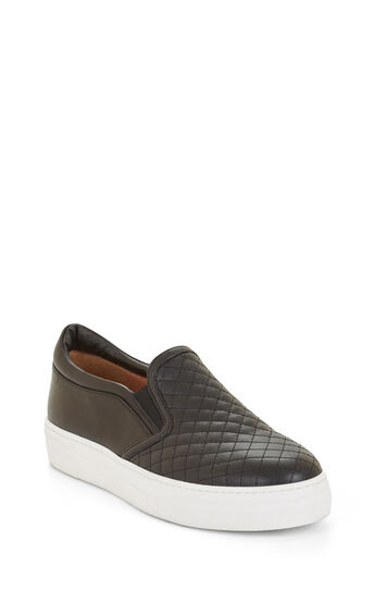 Quilted Faux-Leather Sneaker