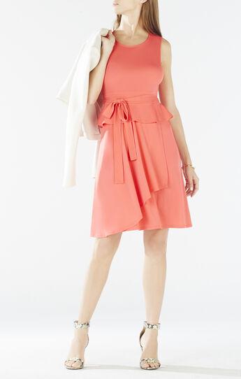 Lissa Asymmetrical Peplum Wrap Dress