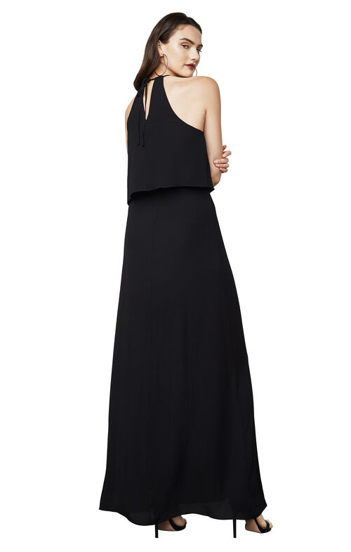 Jansia Ruffled Halter Gown