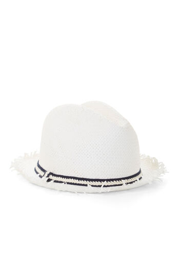 Textured Ribbon Fedora