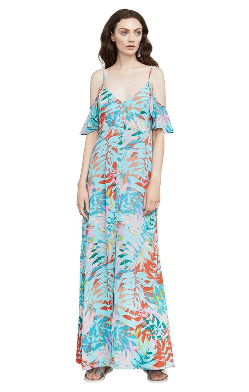 Colinne Tropical-Print Maxi Dress