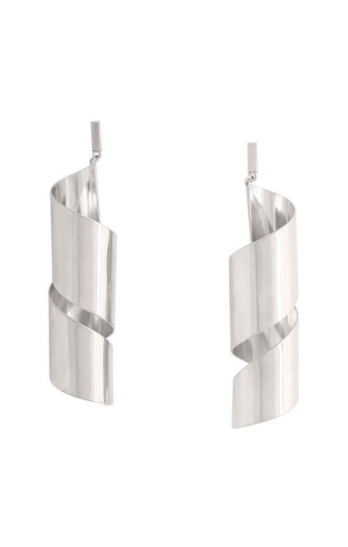 Metal Swirl Earrings
