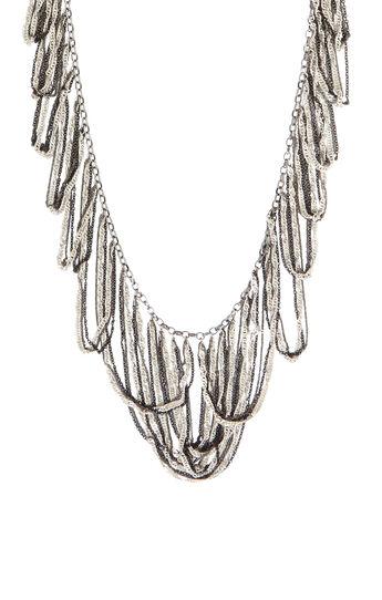 Looped Fringe Necklace