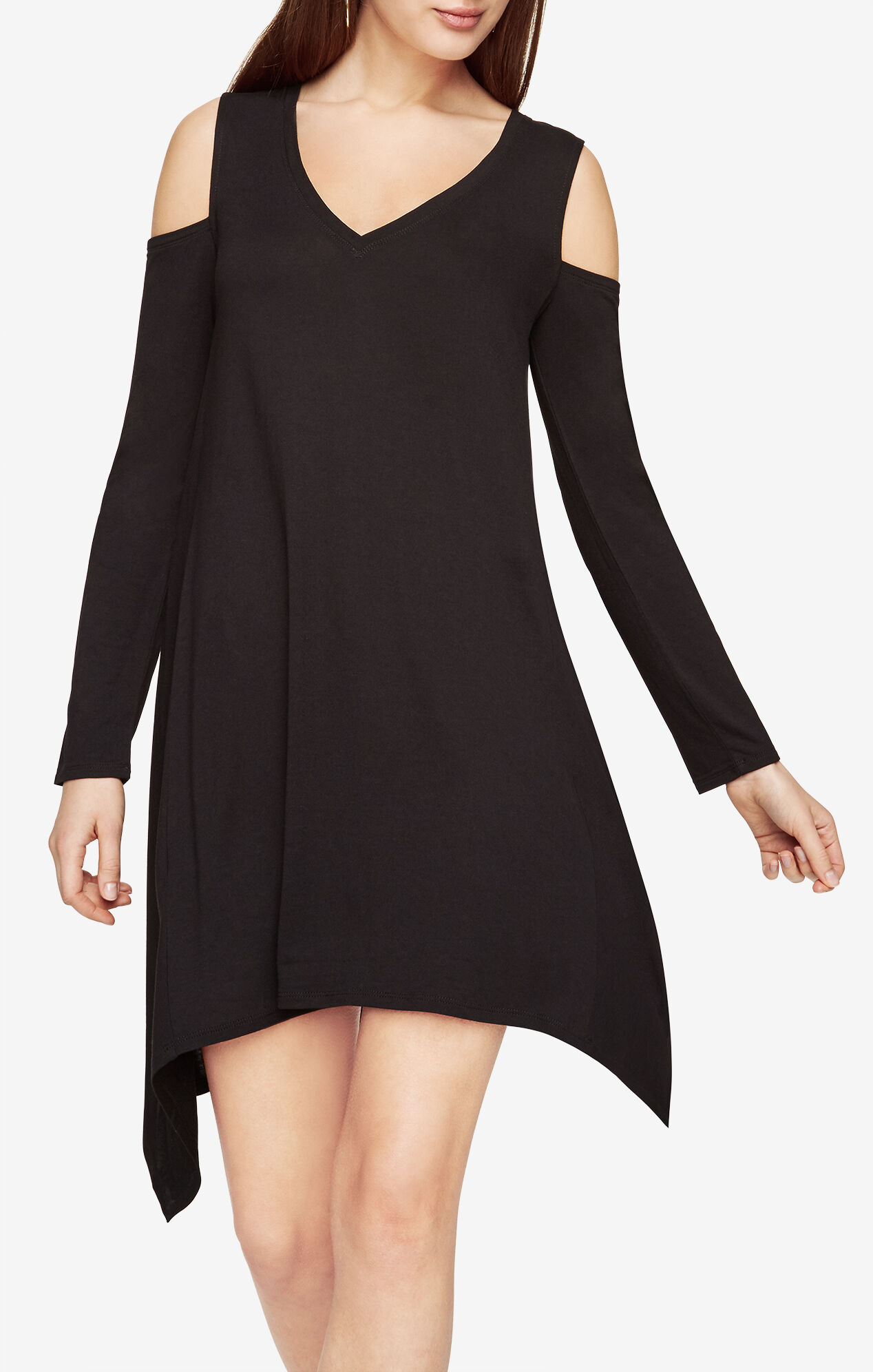 Black dress yellow accessories - Kirby Cold Shoulder Dress