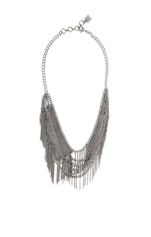 Layered Mesh Fringe Necklace