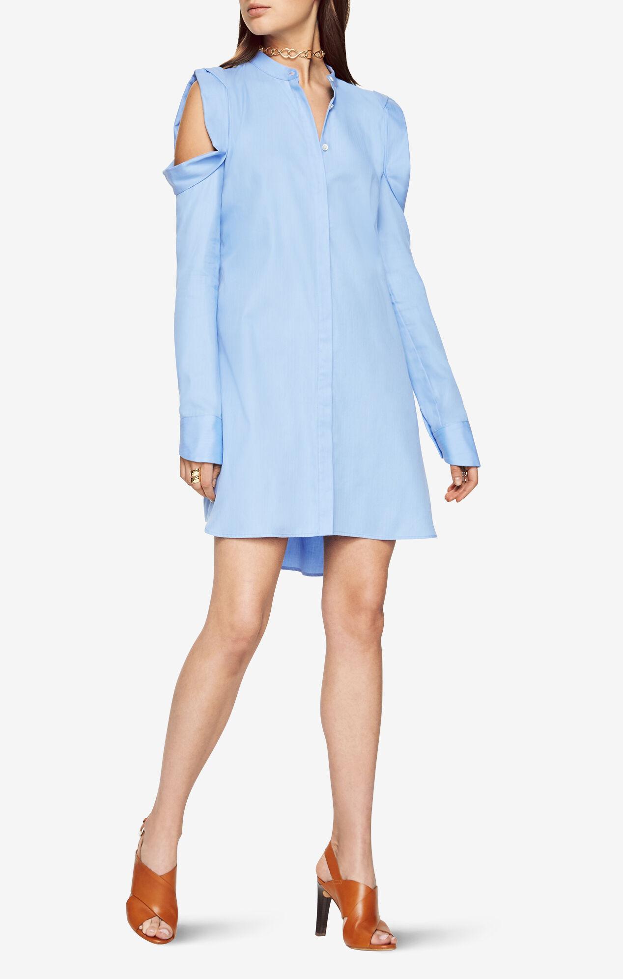jessee cold shoulder shirt dress. Black Bedroom Furniture Sets. Home Design Ideas