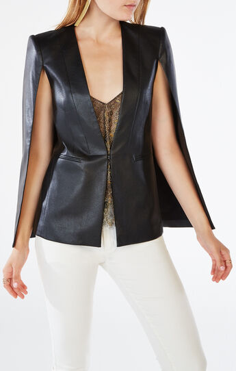 Upas Faux-Leather Cape
