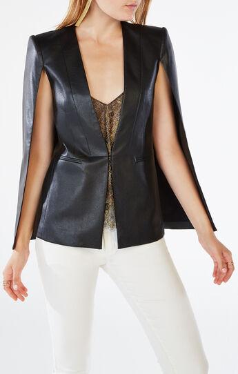 Upas Faux-Leather Cape