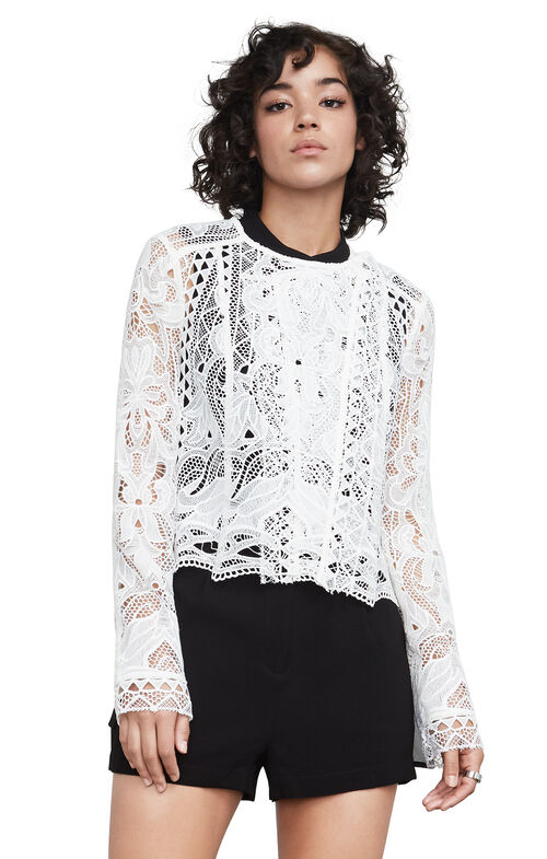 Ash Geometric Lace Jacket
