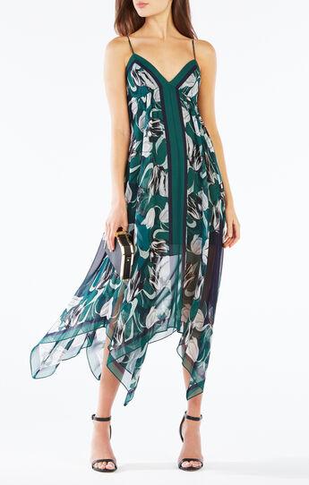 Isabela Asymmetrical Tulip Print Dress
