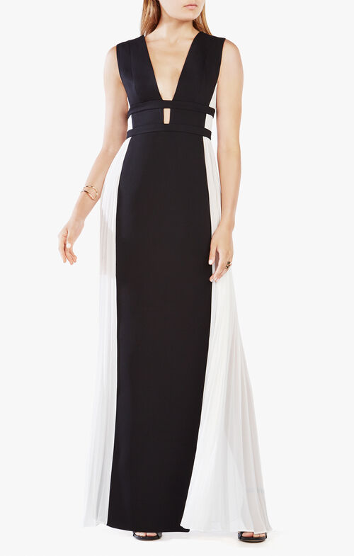 Tahlia Color-Blocked Gown