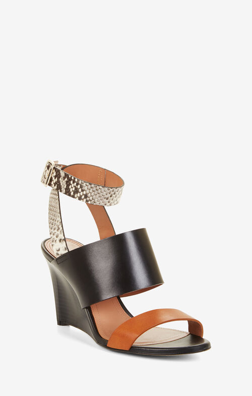 Kalice Leather Wedge Sandals