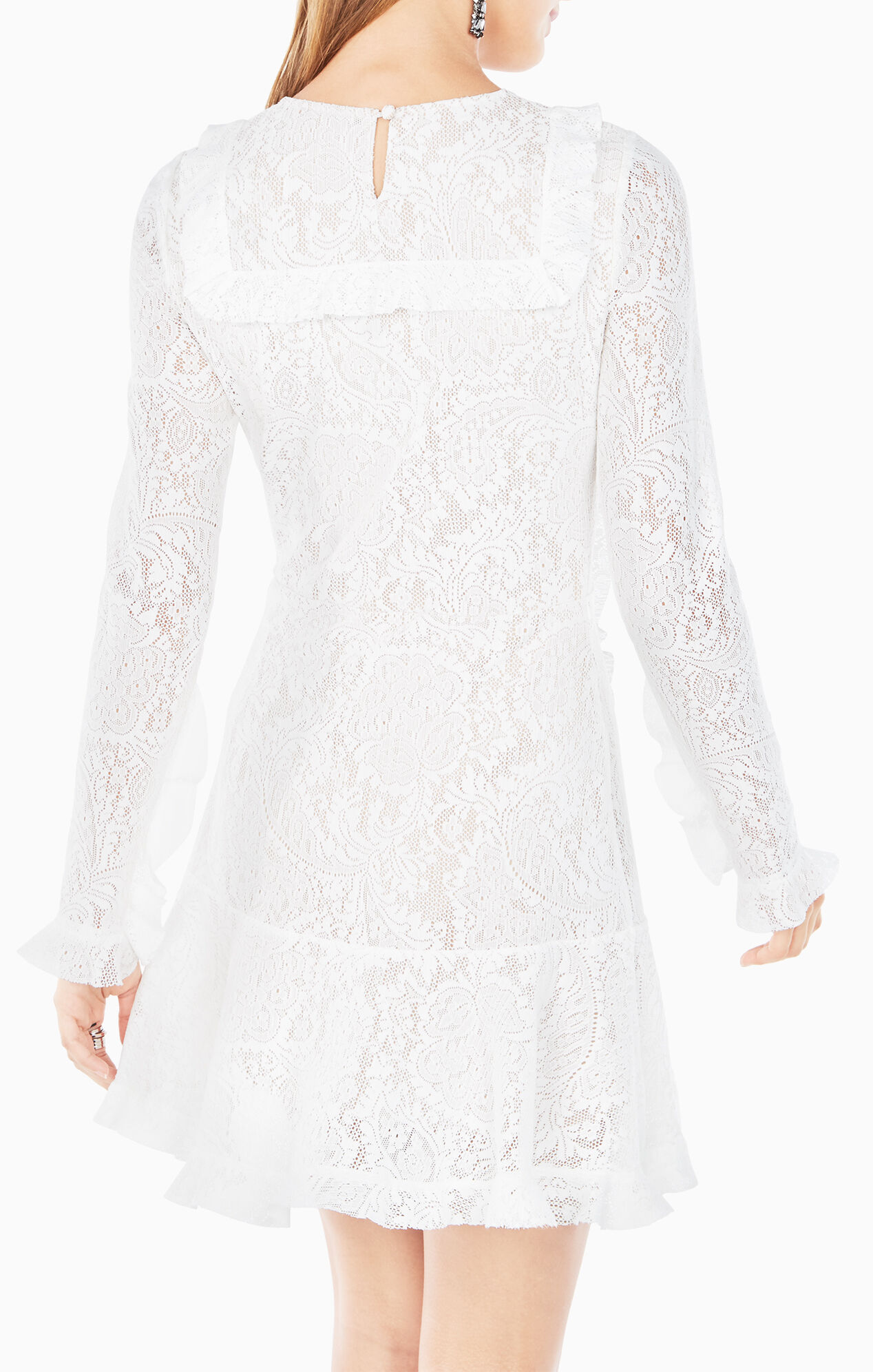 Guinevere Ruffled Lace Dress