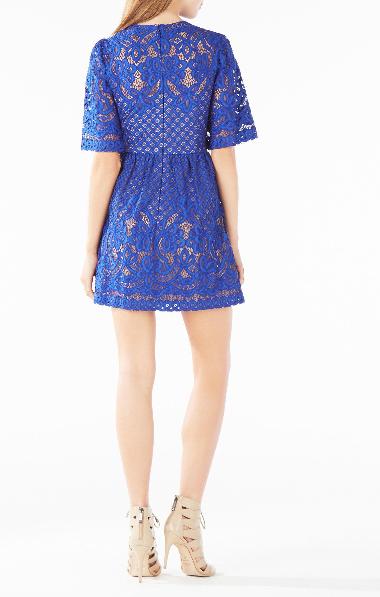 Bcbg cobalt blue lace dress