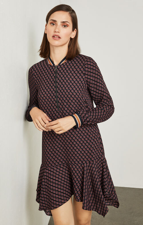 Drew Geometric-Print Dress